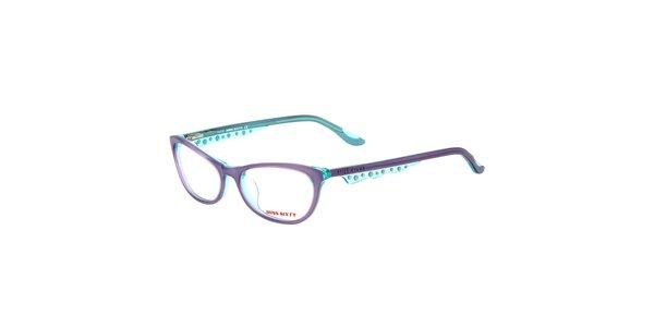 Dámske fialovo-tyrkysové transparentné okuliare Miss Sixty