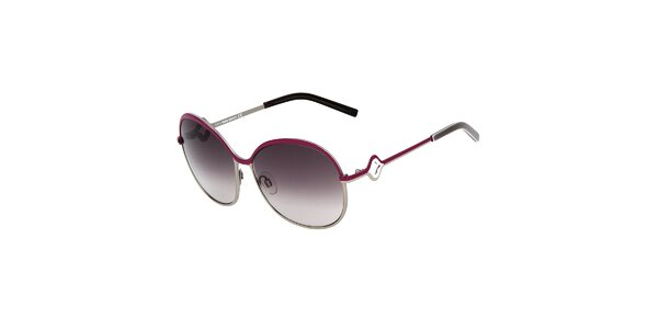 Dámske guľaté kovové slnečné okuliare Miss Sixty