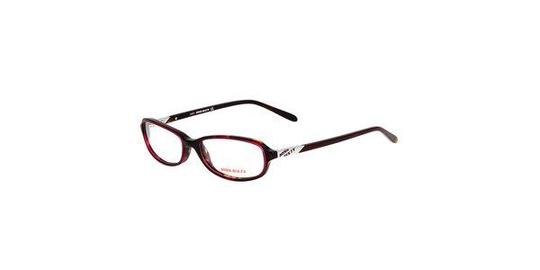 Dámske tenké fialové oválne okuliare Miss Sixty