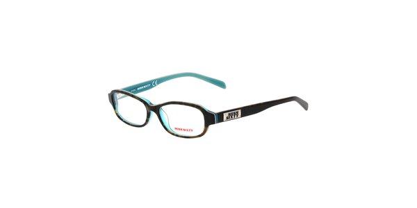 Dámske čierno-tyrkysové okuliare Miss Sixty