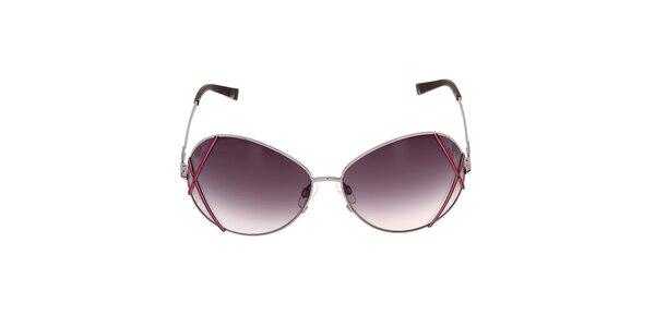 Dámske slnečné okuliare so šedými sklami s gradientným efektom Miss sixty