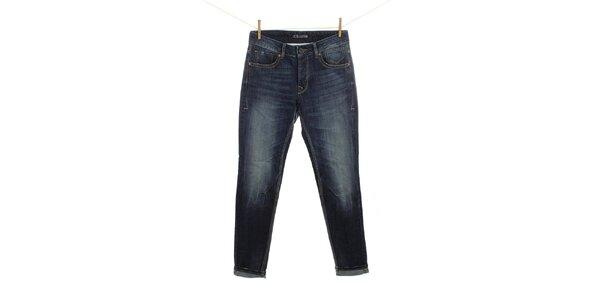Pánske modré šisované džínsy Fuga