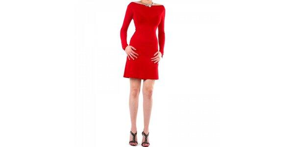 Dámske červené šaty Fifilles de Paris s čipkou