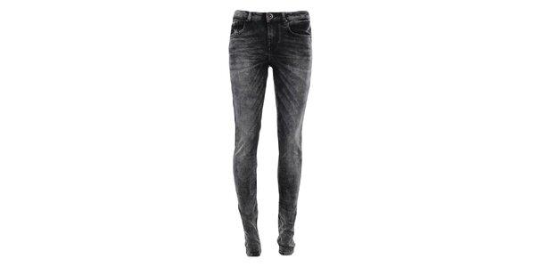 Dámske čierne šisované džínsy Fuga