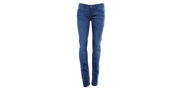 Dámske indigové úzke džínsy Fuga