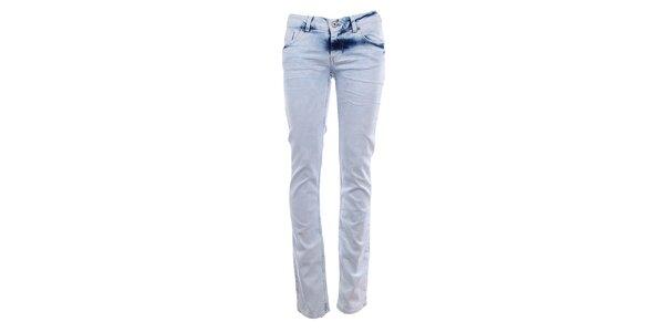 Dámske bledé úzke džínsy Fuga