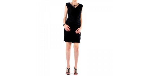 Dámske čierne čipkové šaty Fifilles de Paris