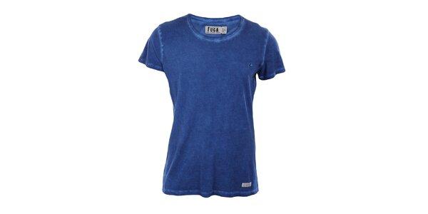 Pánske modré tričko s krátkym rukávom Fuga