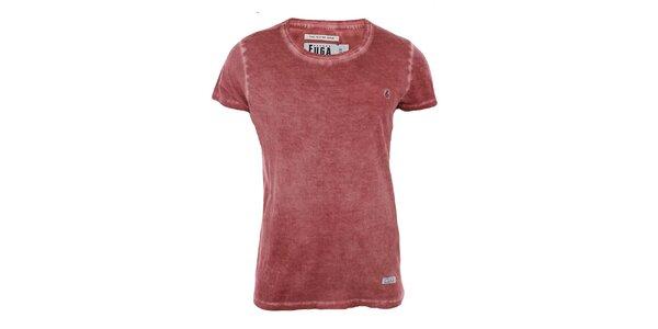 Pánske červené tričko s krátkym rukávom Fuga