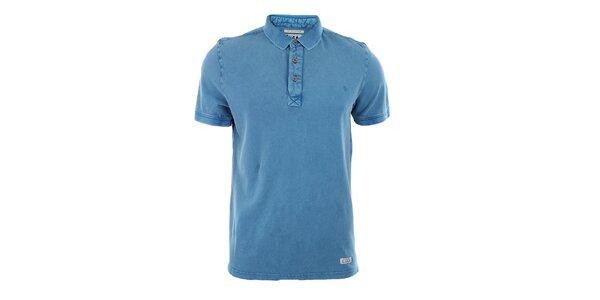 Pánske modré polo tričko Fuga