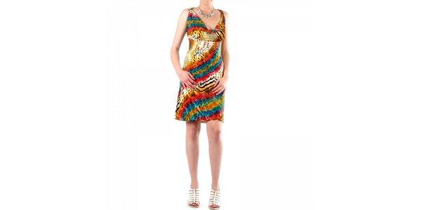 Dámske pestrofarebné šaty Fifilles se Paris so zvieracím vzorom