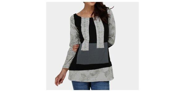Dámske viacfarebné tričko s kvetinovým vzorom Piedra and Agua