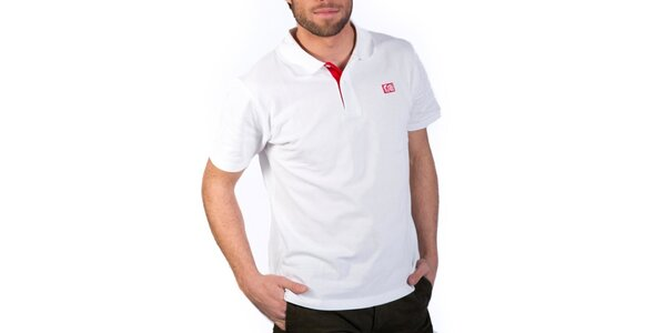 Pánske biele polo tričko Indian Face