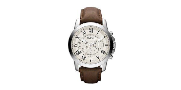 Pánske hodinky Fossil so svetlým ciferníkom