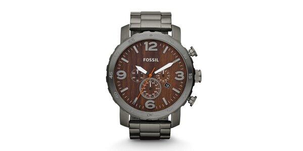 Pánske hodinky Fossil s ciferníkom v imitácii dreva