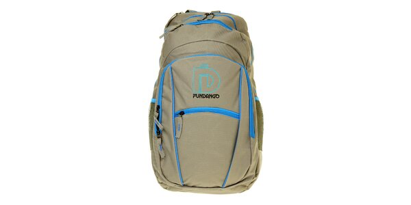 Pánsky šedý ruksak Fundango s modrými detailmi