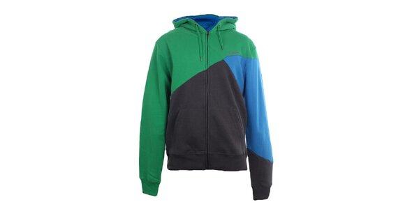 Pánska modro-zelená mikina Fundango