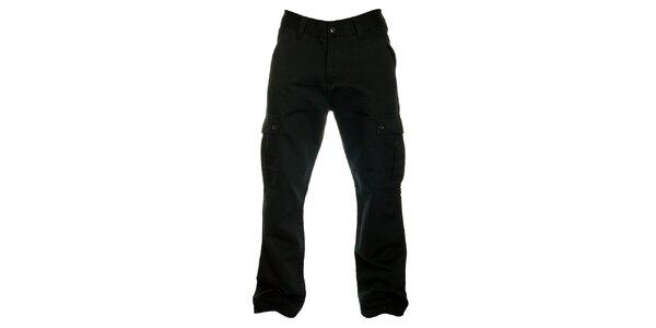 Pánske čierne bavlnené cargo nohavice Fundango