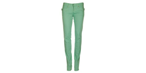 Dámske mätovo zelené skinny džínsy Fundango