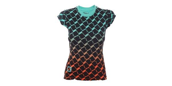 Dámske dúhové tričko s potlačou Fundango