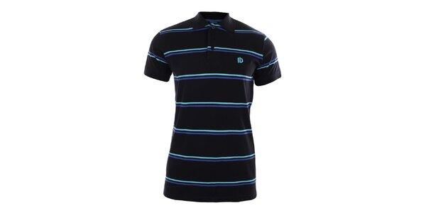 Pánske čierne pruhované tričko Fundango