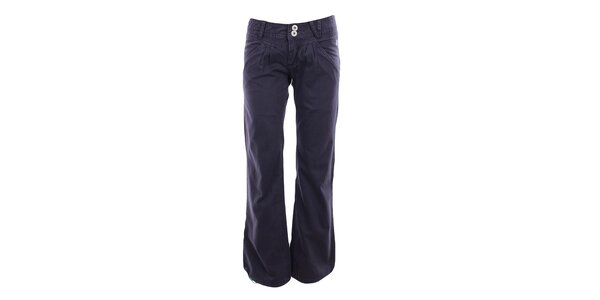 Dámske fialové voľné nohavice Fundango