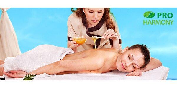 Chladivá letná masáž alebo detoxikačná medová či klasická relaxačná masáž