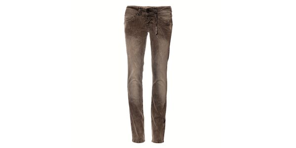 Dámske svetlo šedé džíny Pepe Jeans s pokrčeným efektom