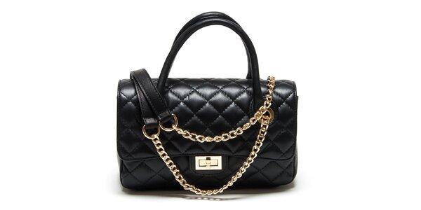 399188827889 Dámska malá čierna prešívaná kabelka Renata Corsi