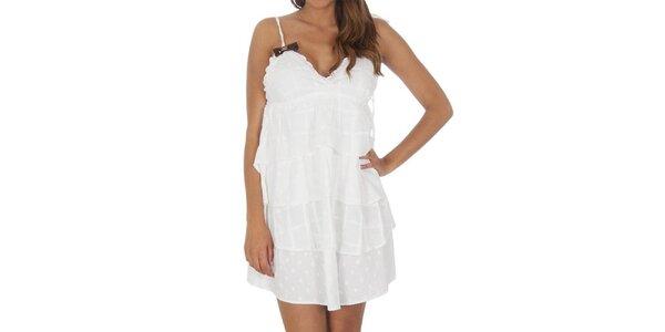 Dámske biele šaty s volánmi Miss Sixty