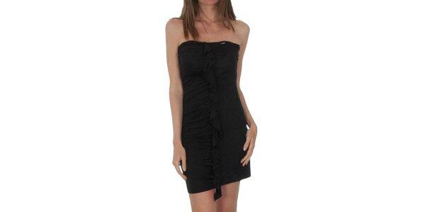 Dámske čierne šaty s volánom Miss Sixty