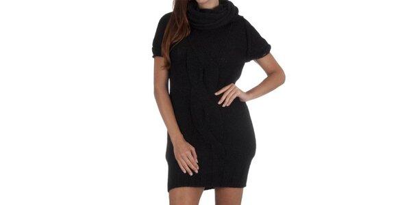 Dámske čierne úpletové šaty Miss Sixty