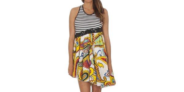 Dámske dvojdielne šaty s asymetrickou sukňou Miss Sixty