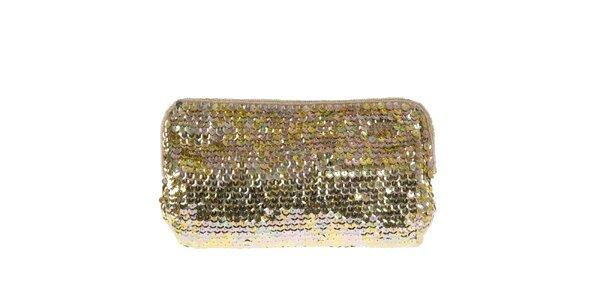Dámska listová kabelka s farebnými flitrami Miss Sixty