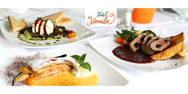 Gurmánske 3-chodové menu