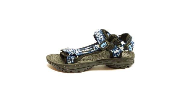 Pánske outdoor šedomodré sandále Numero Uno
