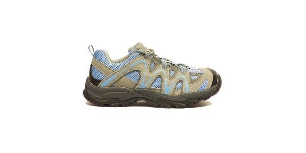 Dámske béžovo-modré trekové topánky Numero Uno