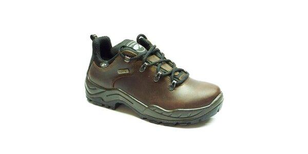 Pánske tmavo hnedé trekové topánky Numero Uno