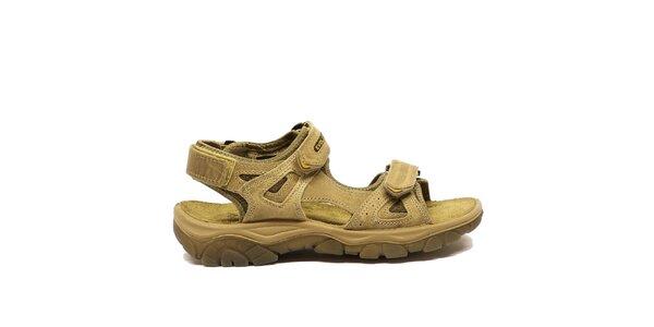 Pánske béžové trekové sandále Numero Uno