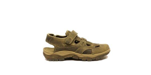 Pánske kožené sandále s uzavretou špičkou Numero Uno