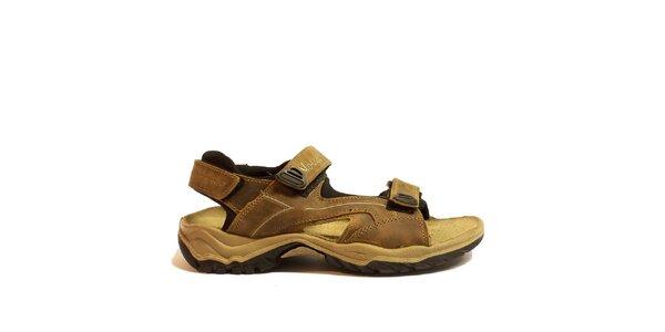 Pánske hnedé trekové sandále Numero Uno