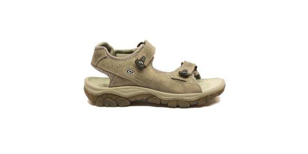 Pánske šedobéžové trekové sandále Numero Uno