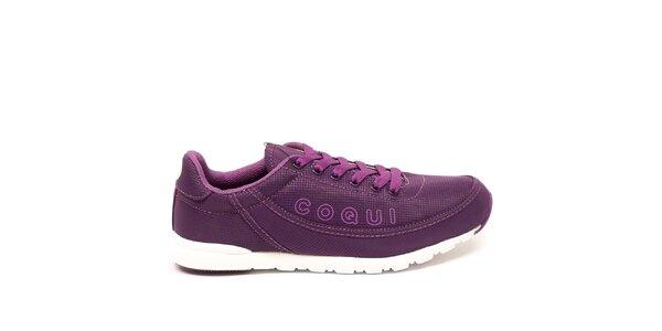 Dámske fialové textilné športové tenisky Numero Uno
