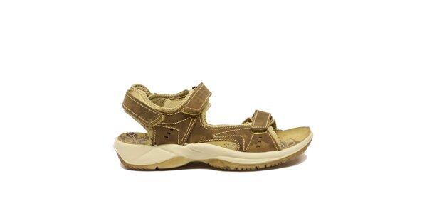 Dámske béžovo-hnedé trekové sandále Numero Uno