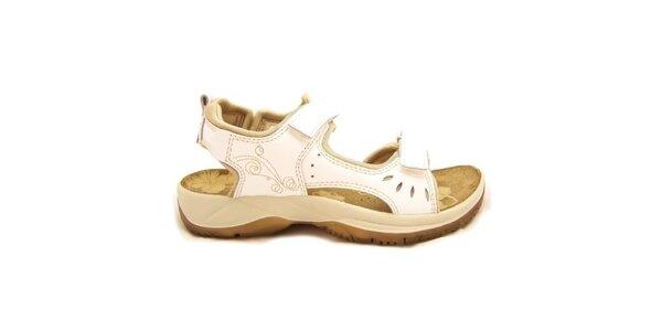 Dámske béžovo-biele trekové sandále Numero Uno