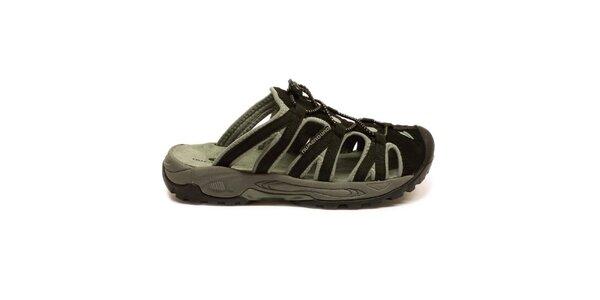 Dámske čierno-šedé nazúvacie sandále Numero Uno