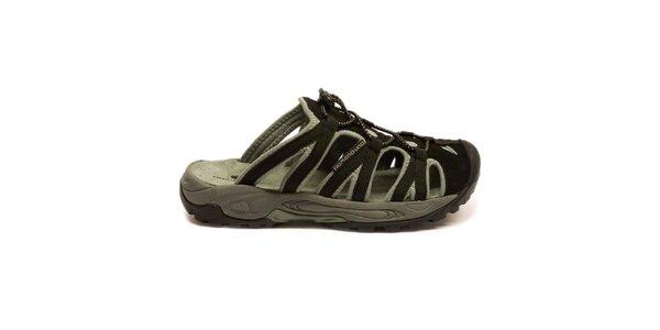Pánske čierno-šedé nazúvacie sandále Numero Uno