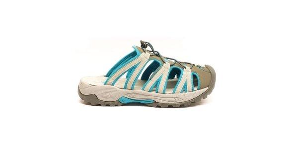 Pánske modro-šedé nazúvacie sandále Numero Uno