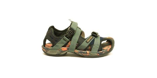 Pánske army trekové sandále Numero Uno