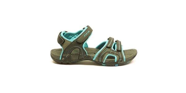 Dámske šedo-modré trekové sandálky Numero Uno